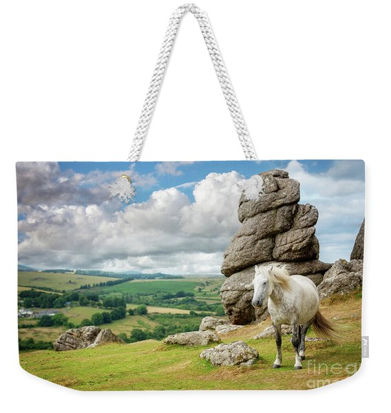 Wild Dartmoor Pony Weekender Tote Bag