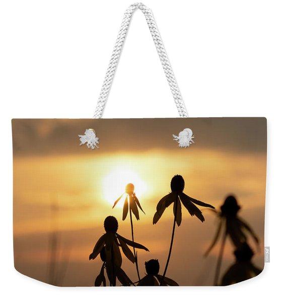Wildflower Sunset Weekender Tote Bag