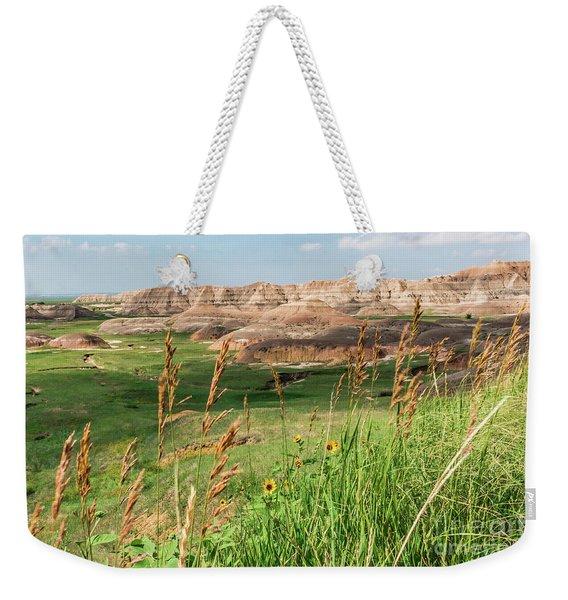 Wildflowers In The Badlands Weekender Tote Bag