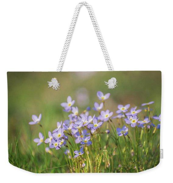 Wildflowers Thyme Leaf Bluets Weekender Tote Bag