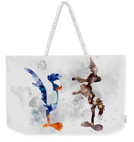 Wile E. Coyote And The Road Runner Weekender Tote Bag