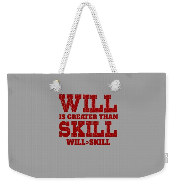 Will Skill Weekender Tote Bag