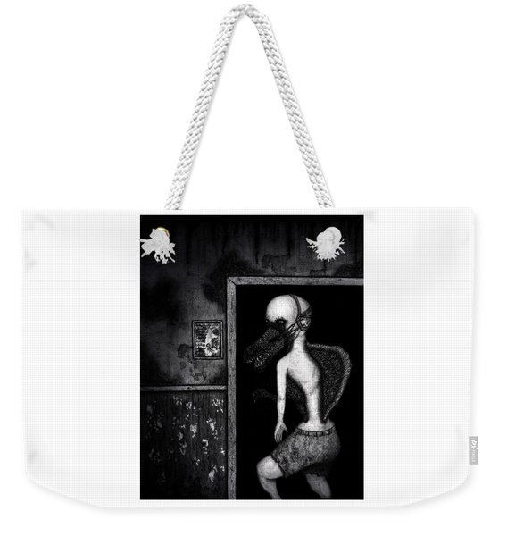 Weekender Tote Bag featuring the drawing William The Flesheater - Artwork by Ryan Nieves