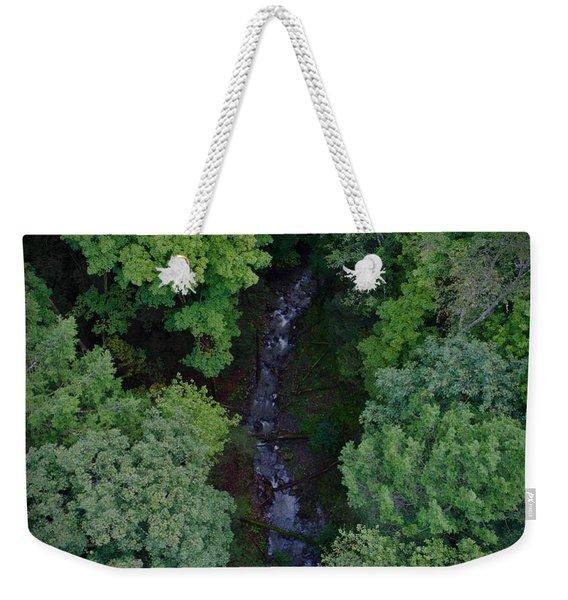Willow Run Creek Weekender Tote Bag