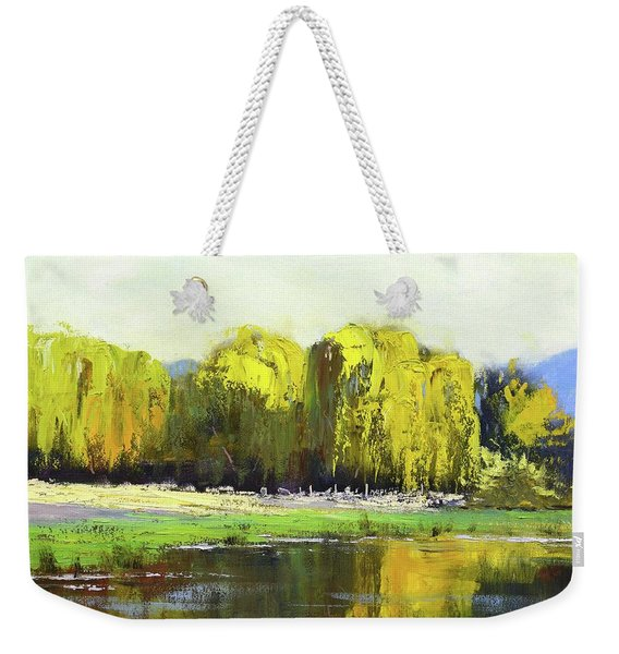 Willow Tree Reflections Weekender Tote Bag
