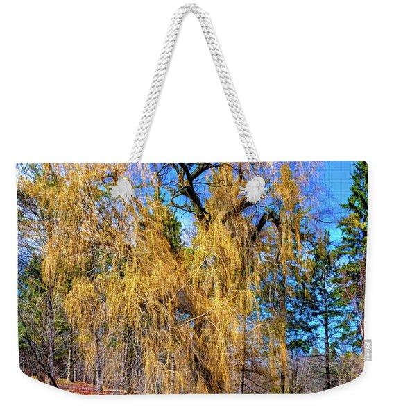 Willow Watching 2 - Paint Weekender Tote Bag