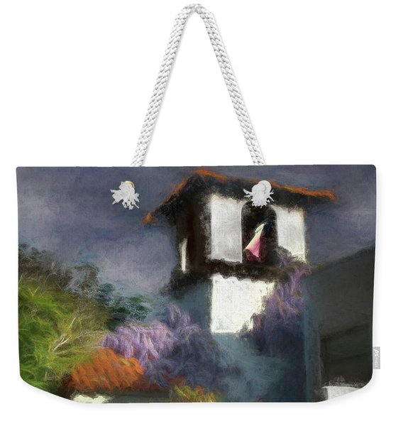 Weekender Tote Bag featuring the photograph Wind In The Tower Washline by Wayne King