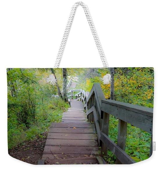 Winding Stairs In Autumn Weekender Tote Bag