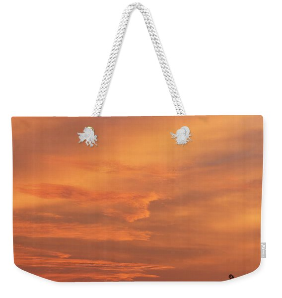 Weekender Tote Bag featuring the photograph Windmill And Afterglow 02 by Rob Graham