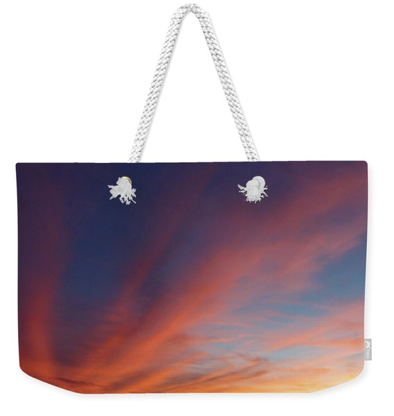 Weekender Tote Bag featuring the photograph Windmill And Afterglow 04 by Rob Graham