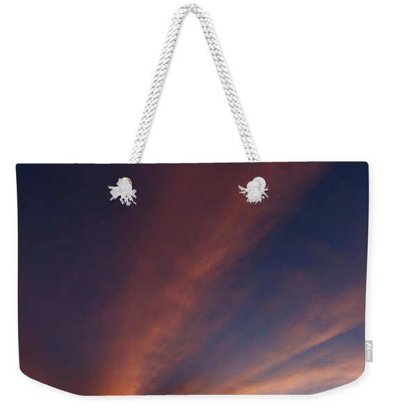 Weekender Tote Bag featuring the photograph Windmill And Afterglow 06 by Rob Graham