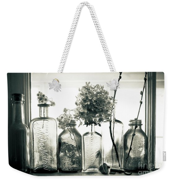 Windowsill Bottles Weekender Tote Bag