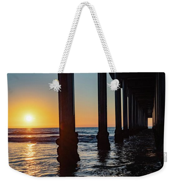 Weekender Tote Bag featuring the photograph Window Under Scripps by Robin Zygelman
