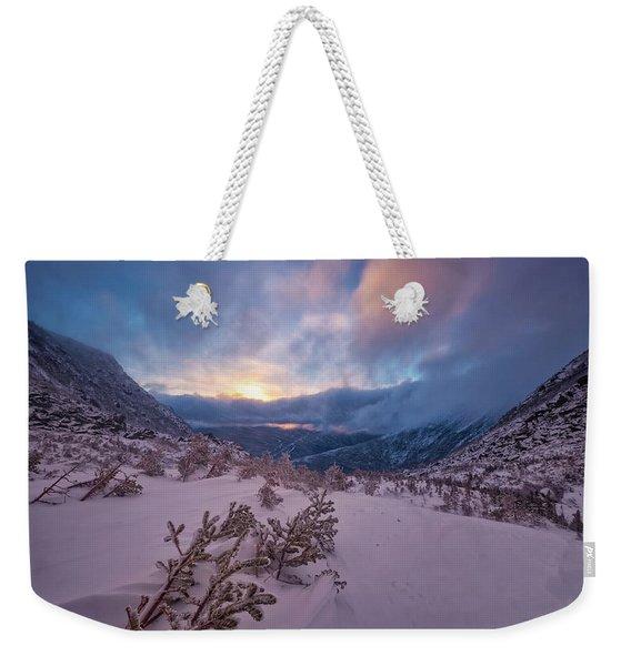 Windswept, Spring Sunrise In Tuckerman Ravine Weekender Tote Bag