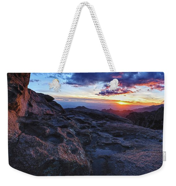 Windy Point Sunset Weekender Tote Bag