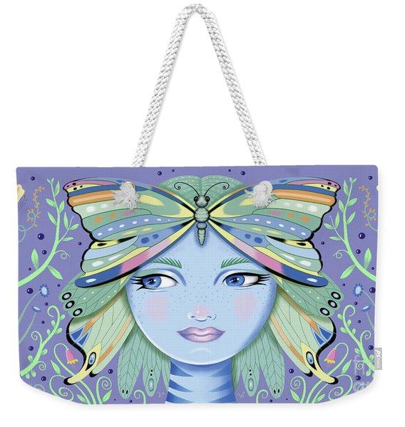 Insect Girl, Winga - Purple Weekender Tote Bag