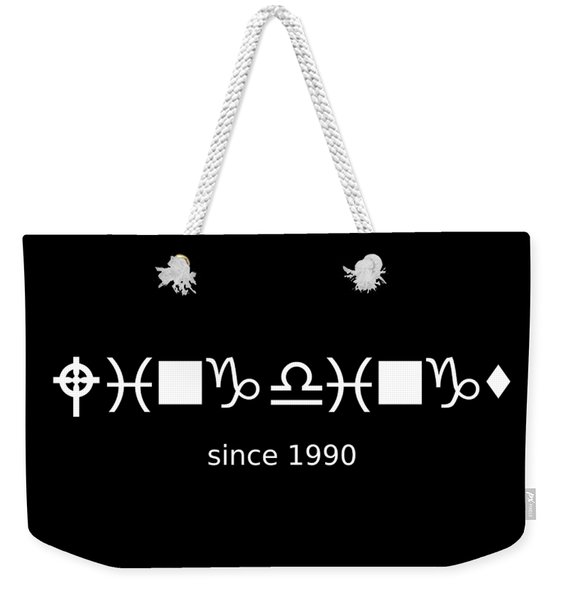 Wingdings Since 1990 - White Weekender Tote Bag