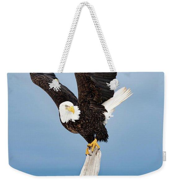 Winged Sentry Weekender Tote Bag