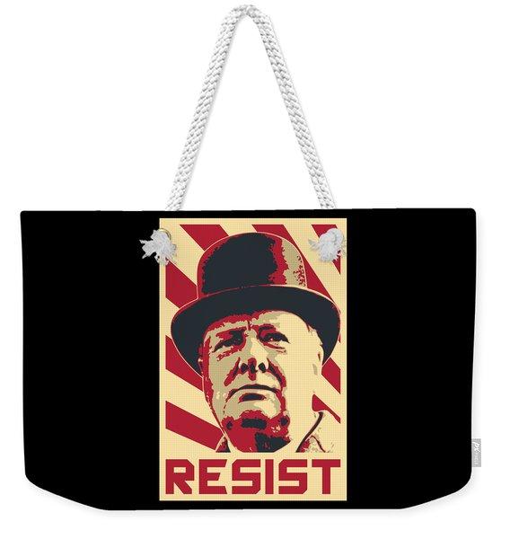 Winston Churchill Resist Weekender Tote Bag
