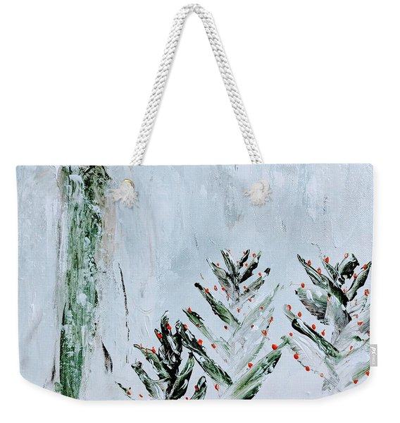 Winter Angel Weekender Tote Bag