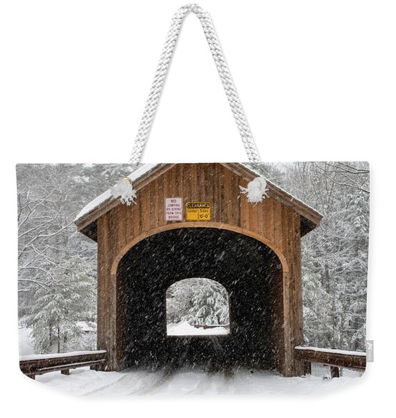 Winter At Babb's Bridge Weekender Tote Bag