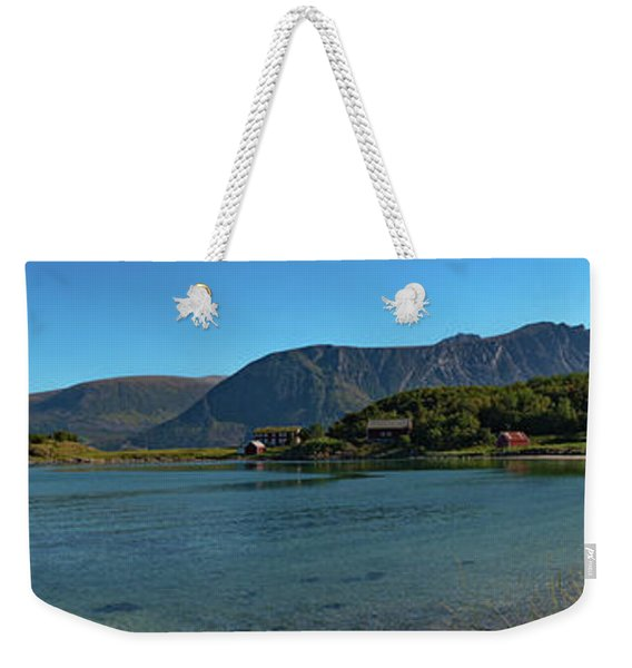 Winter Beach In Norway Weekender Tote Bag