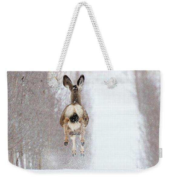 Winter Bounce Weekender Tote Bag