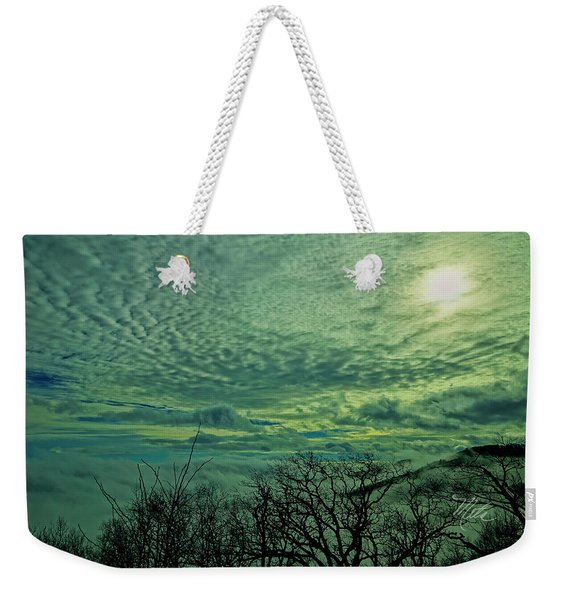 Winter Clouds Weekender Tote Bag