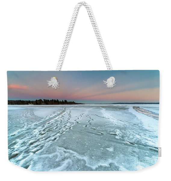 Winter Dusk Over Bear Lake Weekender Tote Bag