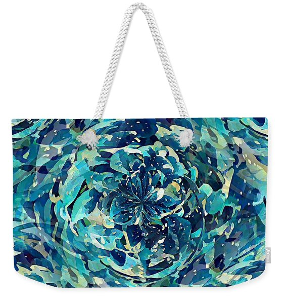 Winter Floral Weekender Tote Bag