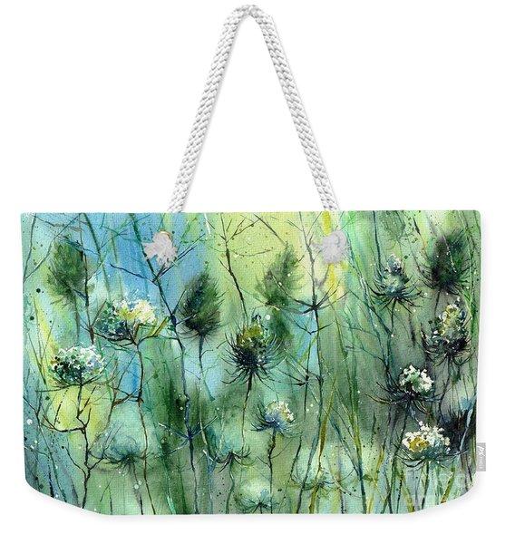 Winter Flowers Weekender Tote Bag