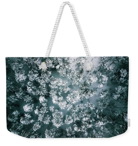 Winter Forest - Aerial Photography Weekender Tote Bag