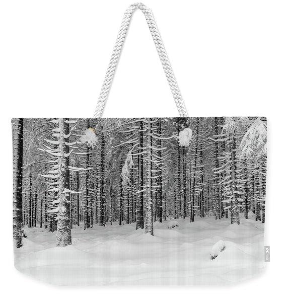 winter forest, Harz Weekender Tote Bag