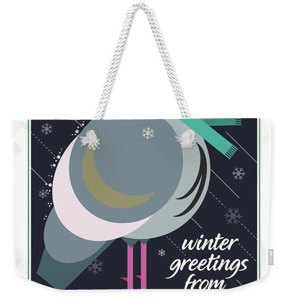 Winter Greetings Weekender Tote Bag