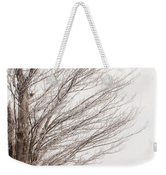 Winter Hoarfrost Weekender Tote Bag