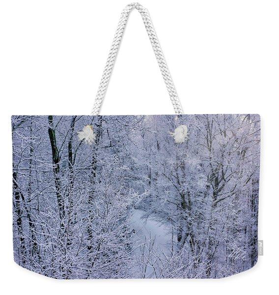 Winter Ice Storm Weekender Tote Bag