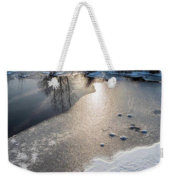 Winter Landscape At Whitesbog Weekender Tote Bag