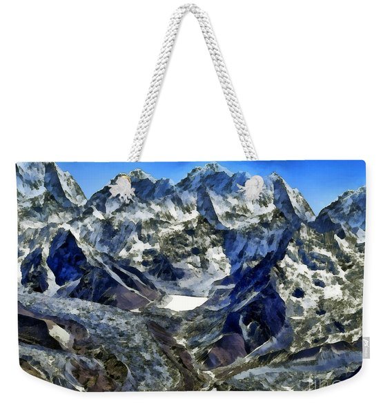 Winter Landscape In The Mountains Weekender Tote Bag