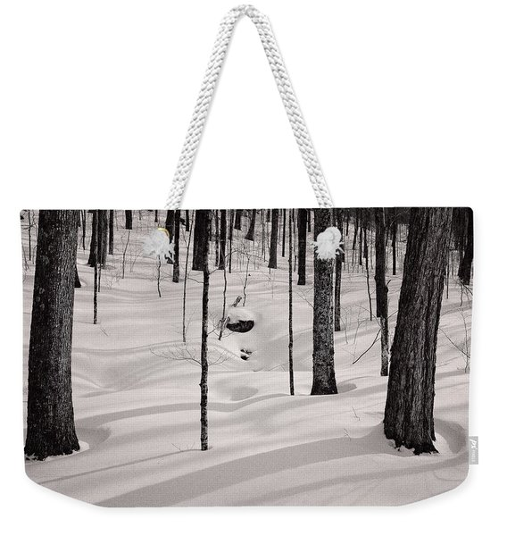 Winter Light In The Forest Weekender Tote Bag