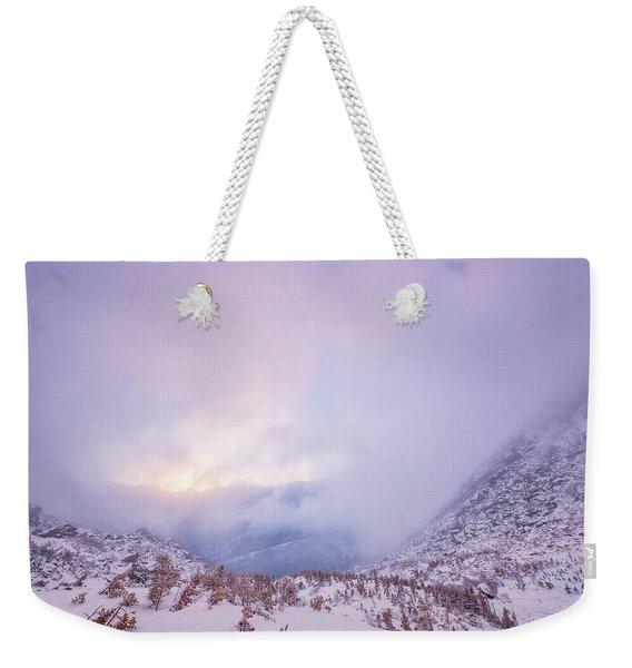 Winter Morning Light Tuckerman Ravine Weekender Tote Bag
