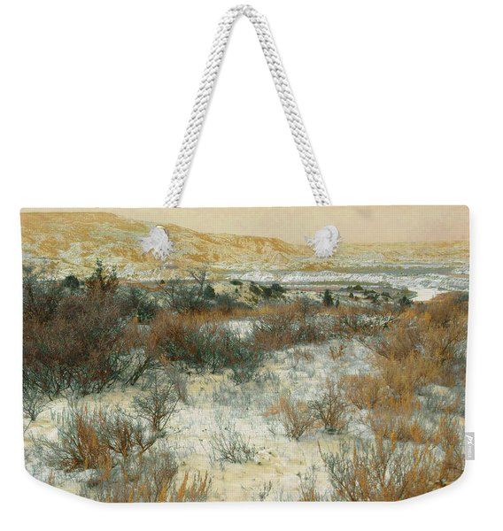 Weekender Tote Bag featuring the photograph Winter Near The Little Missouri by Cris Fulton