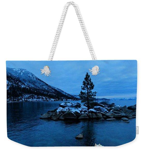 Winter Nightlife Weekender Tote Bag