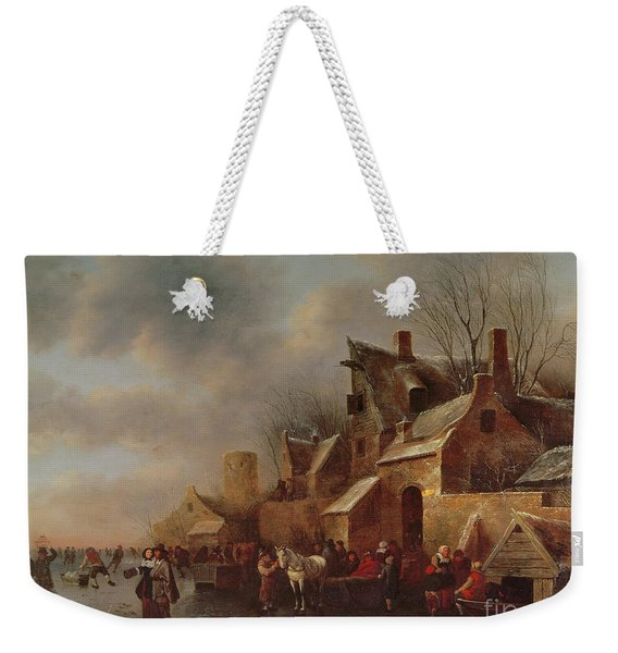 Winter Scene On Ice, 17th Century Weekender Tote Bag