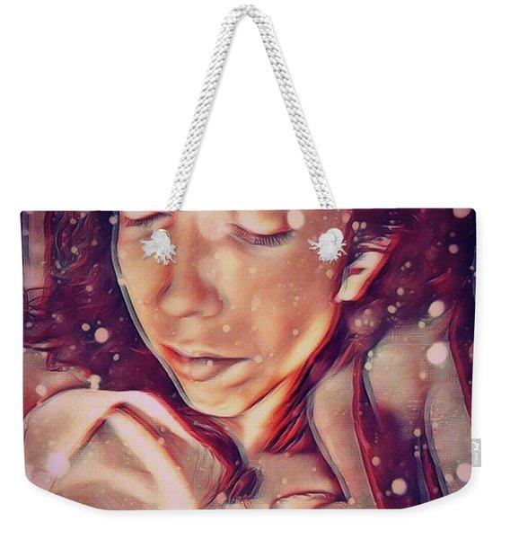 Winter Slumber Weekender Tote Bag