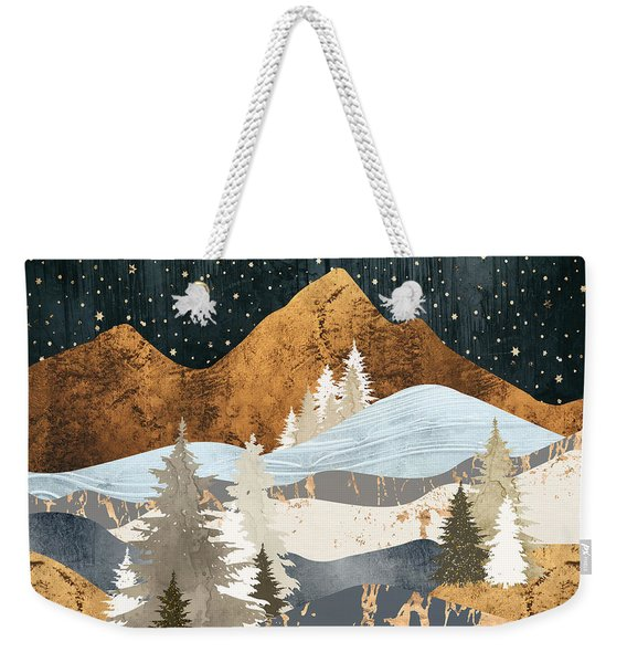 Winter Stars Weekender Tote Bag