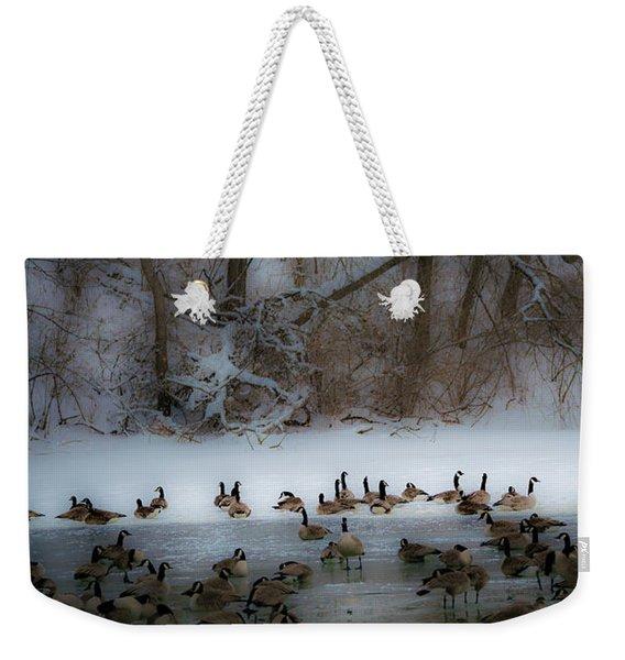 Winter Swim Weekender Tote Bag