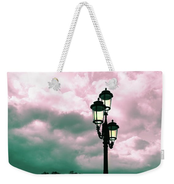 Winter Venice Lantern On The Embankment Weekender Tote Bag
