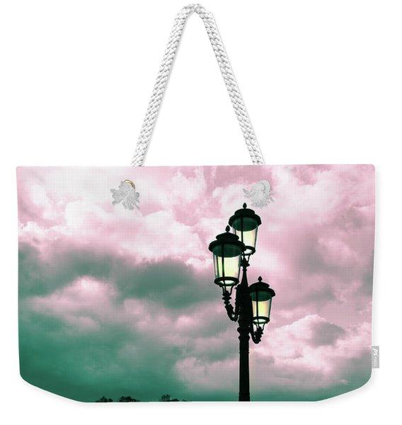 Winter Venice Lantern On The Embankment Weekender Tote Bag