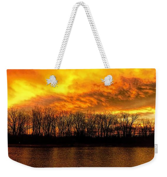 Winter Warmth Weekender Tote Bag