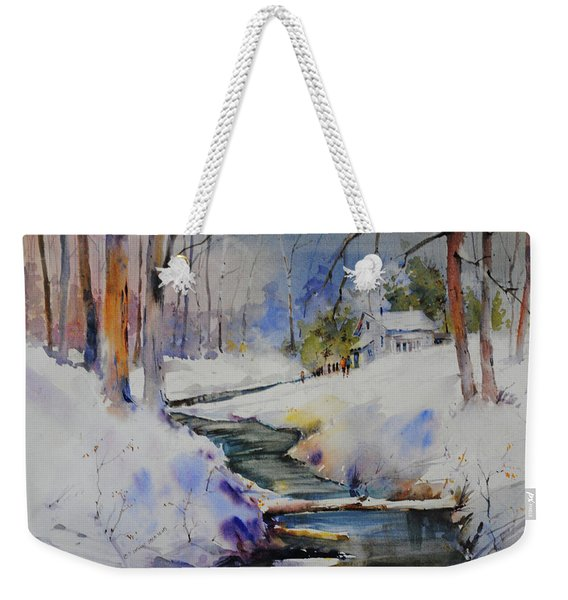 Winter Wilderness Weekender Tote Bag